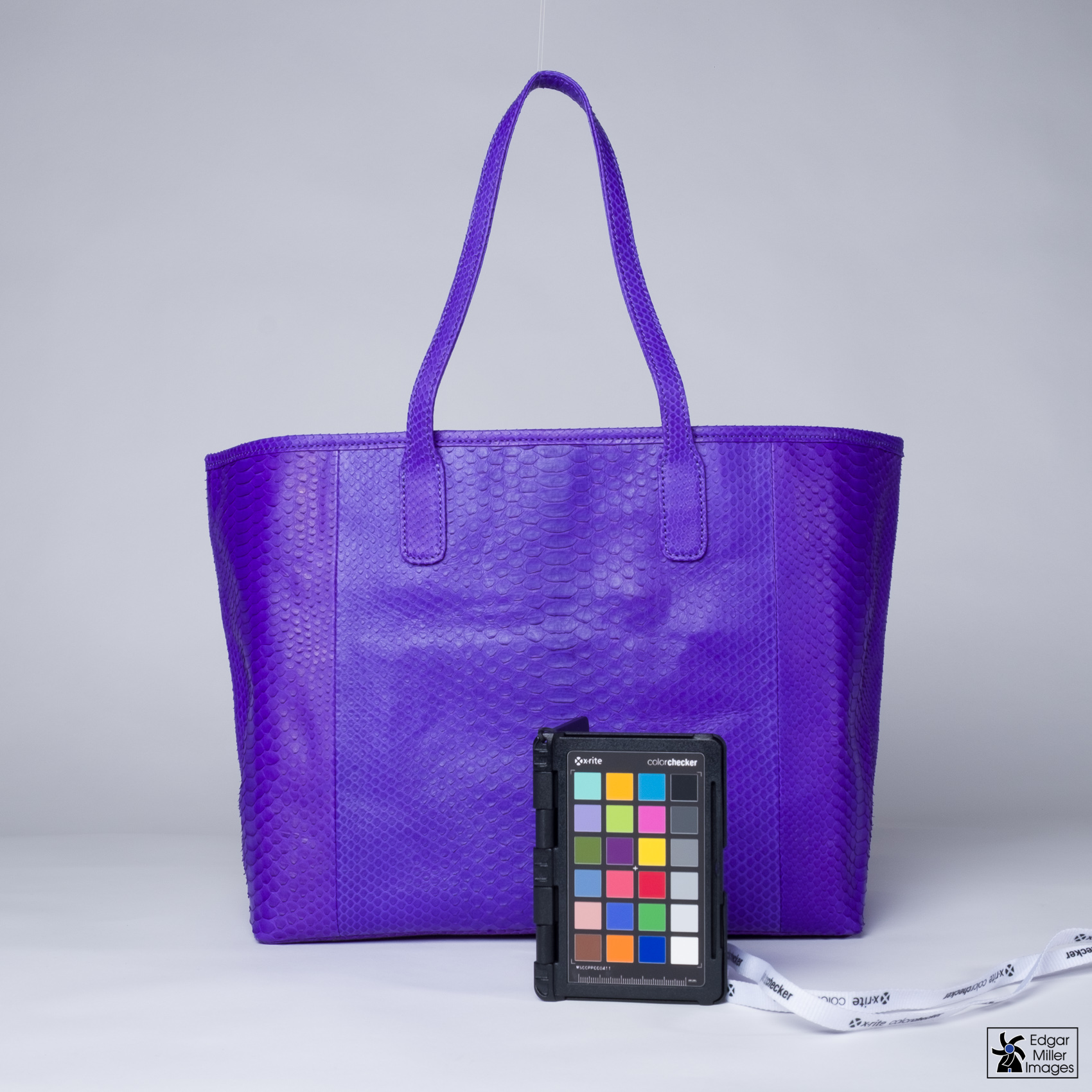 Purple Handbag with calibration