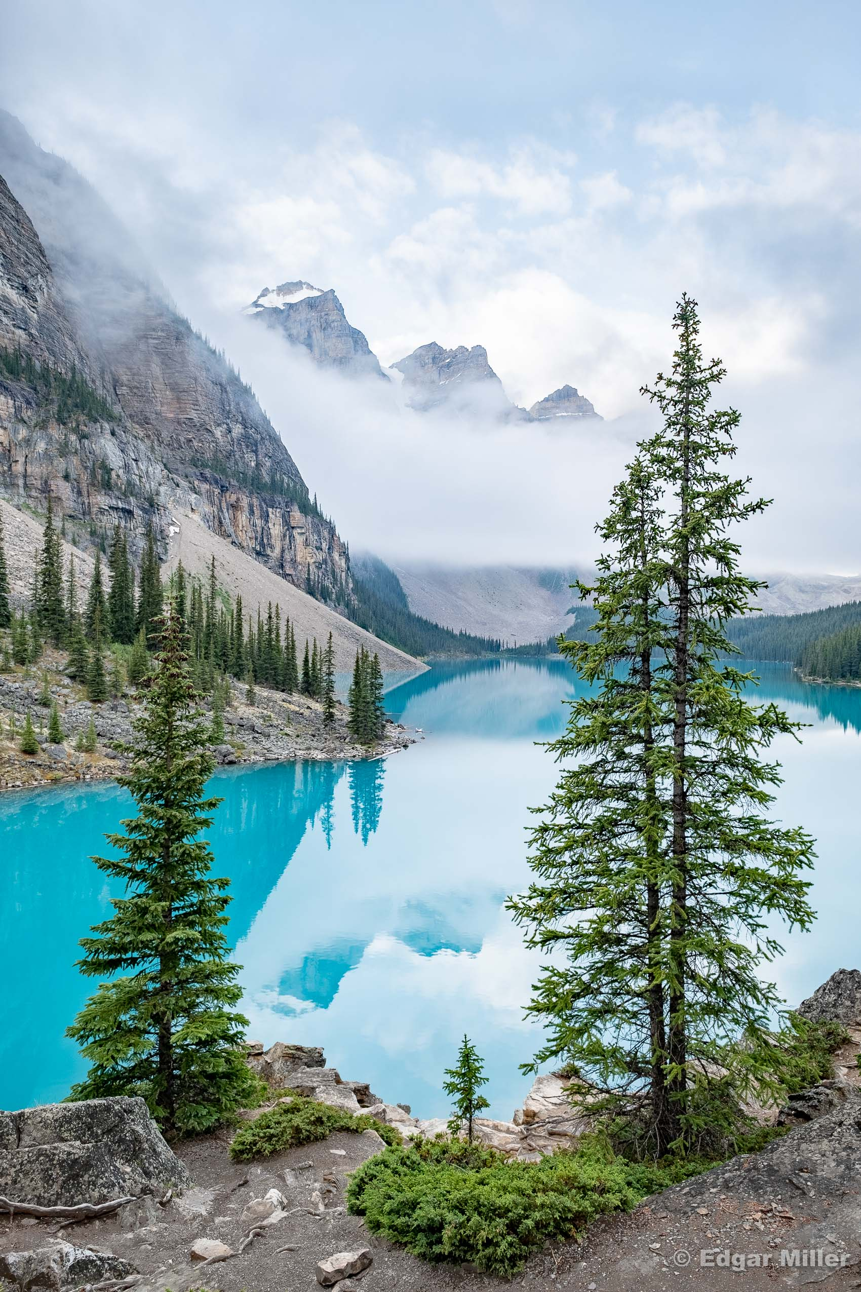 Clearing Clouds at Moraine Lake, Canada